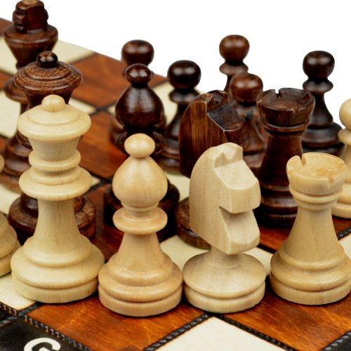 Magnetic Wooden Tournament Travel Chess Set - Medium