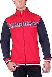 UCC Men's Fleece Regular Fit Sweatshirts (UCC7023RED-L)