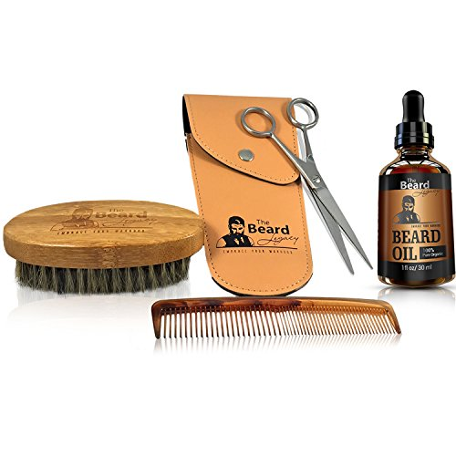 complete beard grooming kit w pouch stainless steel scissors 5 beard. Black Bedroom Furniture Sets. Home Design Ideas