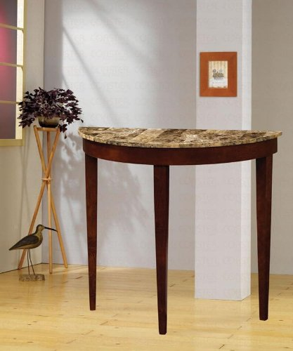 Cheap Entry Way Console Table with Faux Marble Top in Cherry by Coaster Furniture (B006LWQZQE)
