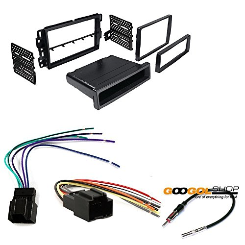 CAR STEREO DASH INSTALL MOUNTING KIT WIRE HARNESS RADIO ANTENNA GMC CHEVROLET SATURN HUMMER BUICK (Chevy Wire Harness For Car Stereo compare prices)