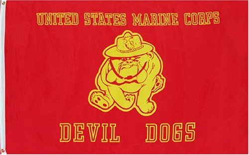 "Marine ""Devil Dogs"" MILITARY Flag - 3 foot by 5 foot Polyester (NEW)"