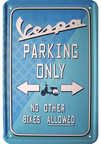 cartello-vespa-parking-only-lingua-inglese