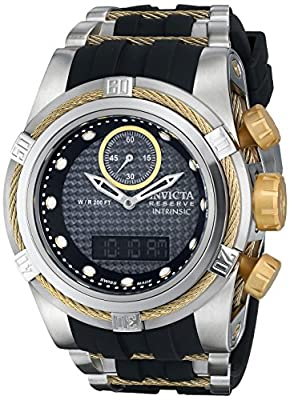 Invicta Men's 12490 Bolt Analog-Digital Display Swiss Quartz Black Watch