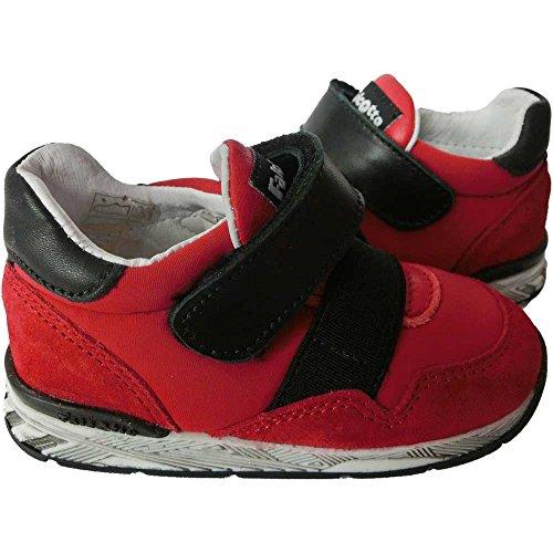 Scarpe bimbo unisex 1098 - Sneaker Falcotto by Naturino Darrin VL Velour/S, Rosso-Nero (25)