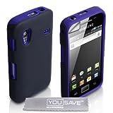 """Yousave Accessories� Samsung Galaxy Ace S5830 Blau Zwei Teil Silikon H�lle Tasche Mit Displayschutzvon """"Yousave"""""""