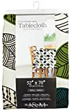 J & M Home Fashions Leaves Vinyl Tablecloth, 60