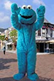 Sesame Street Muppet Cookie Monster Mascot Costume Cartoon Character Fancy Dress thumbnail