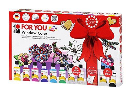 marabu-window-color-fun-fancy-for-you-50-modeles-2-films-a3-et-10-x-80ml