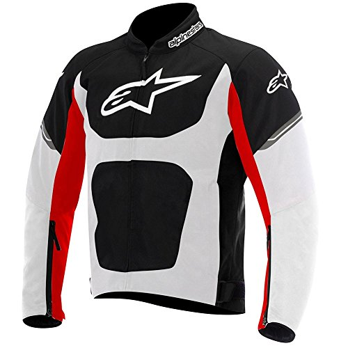Alpinestars Viper Air Textile Mens Motorcycle Jackets - Black/White/Red - Large