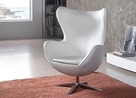 Sillon · Rotary · White Eco-Leather