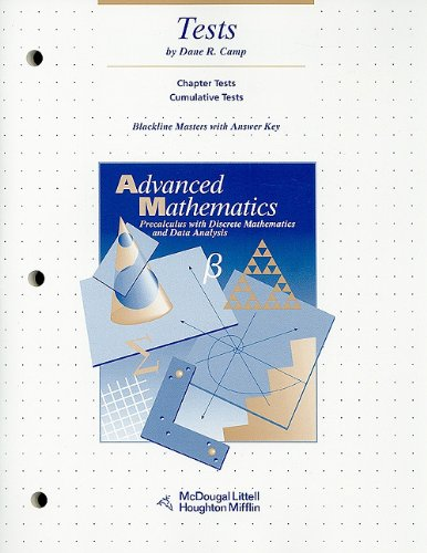 McDougal Littell Advanced Math: Tests, Blackline Masters