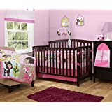 Baby Boom Woodland Girls Crib/Nursery Set, Pink, 10 Count