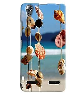 Omnam Sea Shells Hanging Printed Designer Back Cover Case For Lenovo A6000