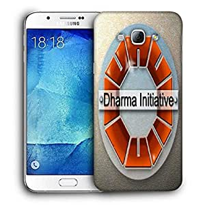 Snoogg Dharma Initiative Printed Protective Phone Back Case Cover For Samsung Galaxy A8