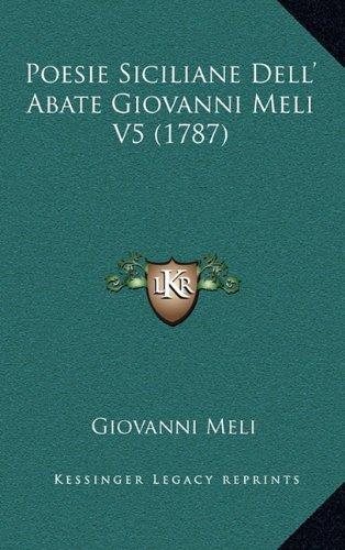 Poesie Siciliane Dell' Abate Giovanni Meli V5 (1787)