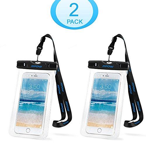 Mpow スマホケース 防水・防塵ケース iPhone6S/6S Plus/6 Samsung GalaxyS6など対応 アウトドア潜水/温泉/釣り/お風呂/水泳/砂浜など用の防水袋 IPX8認定(二点セット)