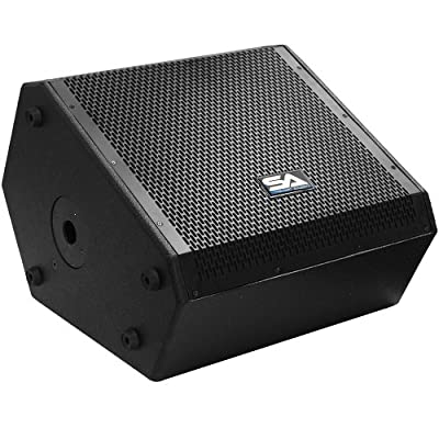 Seismic Audio - SAX-15M - Compact 15 Inch 2-Way Coaxial Floor / Stage Monitor with Titanium Horn - 300 Watts RMS - PA/DJ Stage, Studio, Live Sound 15 Inch Monitor by Seismic Audio Speakers, Inc.