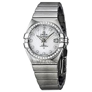 Omega Constellation Automatic Diamond Mother of Pearl Dial Ladies Watch 12315272055001