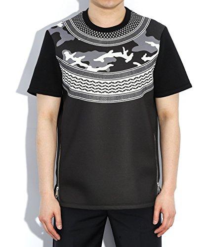 wiberlux-neil-barrett-mens-side-zippered-mixed-pattern-t-shirt-m-black