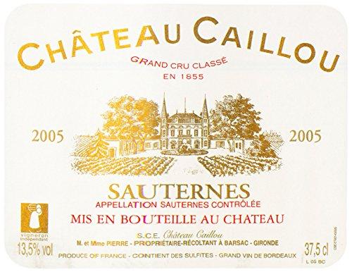 2005 Chateau Caillou Sauternes Bordeaux 375 Ml