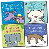 Fiona Watt Usborne That's Not My Collection 4 Books Set (Donkey, Elephant, Dragon, Kitten)
