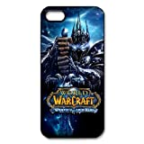 World of Warcraft Games Series Wrath of the Lich King Personalized Water Proof Iphone 5/5S Black Plastic Case