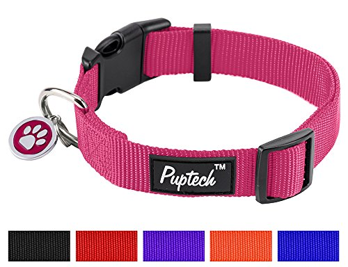 Nylon Puppy Adjustbale Collars Designer for Medium Small Dogs with ID Tag 12