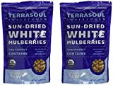 Sun-dried White Mulberries (Organic), 16-ounce (Pack of 2)