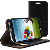 iLuv SS4DIARBK Diary I Premium Leather Wallet Case for Samsung Galaxy S IV - 1 Pack - Retail Packaging - Black
