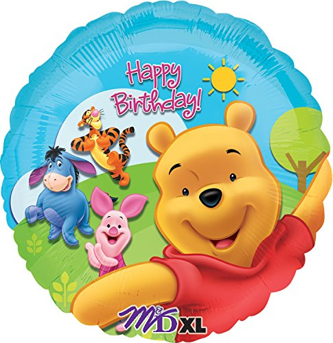 "Anagram International Pooh and Friends Sunny Birthday Foil Balloon Pack, 18"", Multicolor - 1"