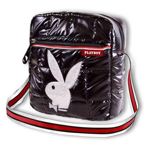 Playboy Borsa a tracolla, effetto pelle, colore nero, 26 x 26 x 8,5 cm