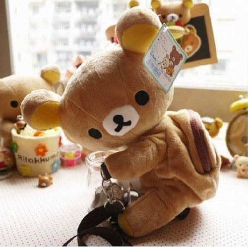 Rilakkuma Relax Bear Doll Mini Backpack Bag Inclined Shoulder Bag - 1