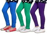 Indistar Girls Super Soft Cotton Leggings (Set of -3)