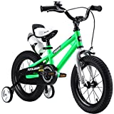 RoyalBaby BMX Freestyle Kids Bike, Boy's Bikes and Girl's Bikes with training wheels, Gifts for children, 16 inch wheels,Green