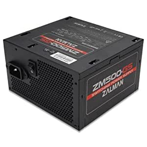 Zalman ZM500GS Alimentation pour PC GS ATX PFC SATA HDD FDD PCIe Modulaire 500 W