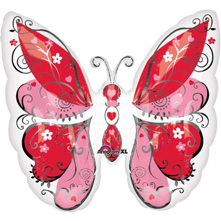 Whimsical Hearts Butterfly Super Shape