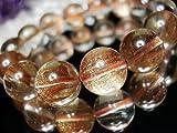 石街[イシガイ]isigaii §超綺麗§砂金ルチルクォーツ約14ミリ14粒 数珠ブレスレット