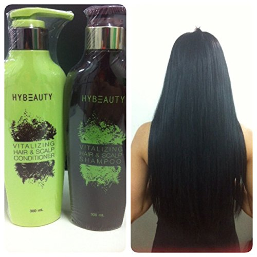 1 Set of Hybeauty Vitalizing Hair & Scalp Shampoo & Conditioner 300 ml.with tracking& gift (Loreal Everpure Thickening compare prices)