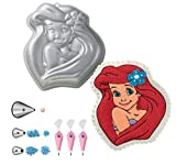 Wilton Disney Princess Ariel Cake Pan Bundle of 7 Items: Ariel Cake Pan, Decorating Tips and Decorating Bags