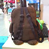 TOOGOO(R) Cute Domo Kun Brown Plush Backpack-Brown