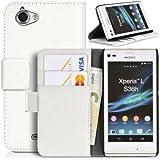 DONZO Wallet Structure Custodia per Sony Xperia L C2105 bianco