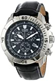 "Citizen Mens AT0810-12E ""Eco-Drive"" Stainless Steel and Leather Watch"