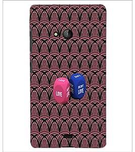 PrintDhaba Love Dice D-4573 Back Case Cover for MICROSOFT LUMIA 540 (Multi-Coloured)