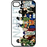 Naruto Manga Anime Comic Uzumaki Naruto Uchiha Sasuke Apple iPhone 4 / 4s TPU Soft Black or White case (Black)