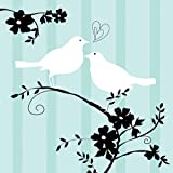 Two Love Birds Beverage Napkins Package of 16