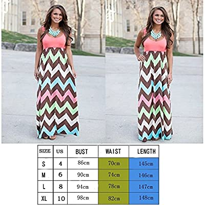 Womens Maxi Boho Summer Long Skirt Evening Cocktail Party Dress