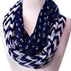 Anchor Chevron Infinity Scarf