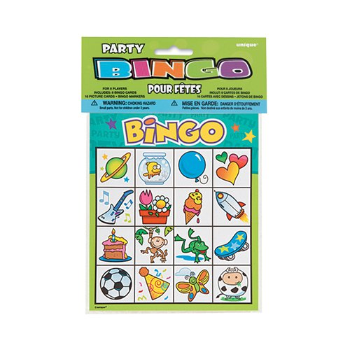 Party Bingo Game For 8