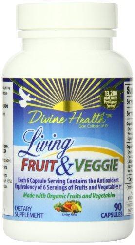 Divine Health Living Fruit And Veggie Capsules, 90 Count